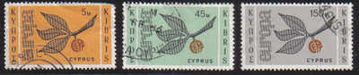 Cyprus Stamps SG 267-69 1965 Europa sprig - USED (c337)