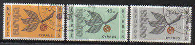 Cyprus Stamps SG 267-69 1965 Europa sprig - USED (c140)