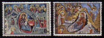 Cyprus Stamps SG 340-41 1969 Christmas - USED (c560)