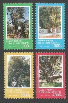 North Cyprus Stamps SG 354-57 1993 Ancient Trees - MINT