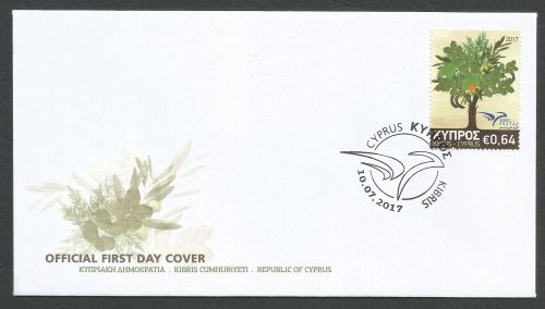 Cyprus Stamps SG 2017 (f) Euromed Trees of the Mediterranean - Official FDC