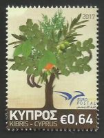 Cyprus Stamps SG 1423 2017 Euromed Trees of the Mediterranean - MINT