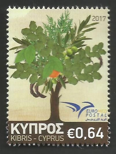 Cyprus Stamps SG 2017 (f) Euromed Trees of the Mediterranean - MINT
