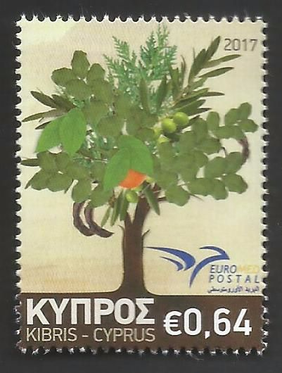 Cyprus Stamps Euromed 2017 - Trees of the Mediterranean