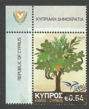 Cyprus Stamps SG 2017 (f) Euromed Trees of the Mediterranean - CTO USED (k516)