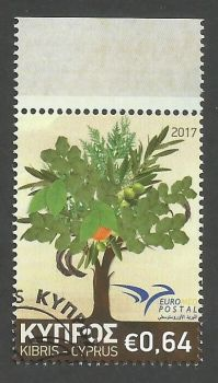 Cyprus Stamps SG 2017 (f) Euromed Trees of the Mediterranean - CTO USED (k517)