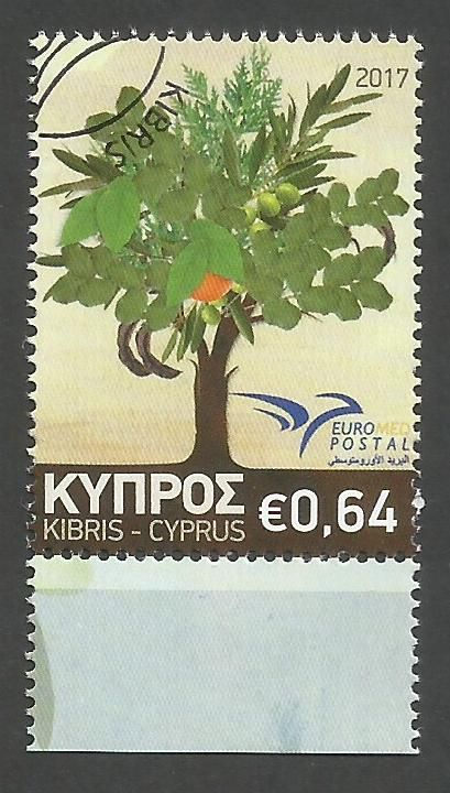 Cyprus Stamps SG 2017 (f) Euromed Trees of the Mediterranean - CTO USED (k5