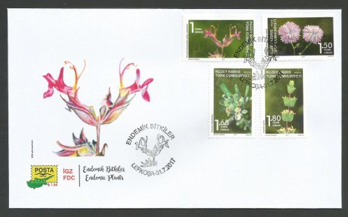 North Cyprus Stamps SG 2017 (d) Endemic plants - Official FDC