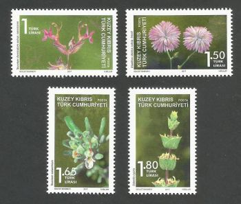 North Cyprus Stamps SG 2017 (d) Endemic plants - MINT