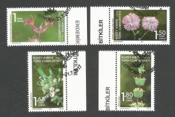 North Cyprus Stamps SG 2017 (d) Endemic plants - CTO USED (k539)
