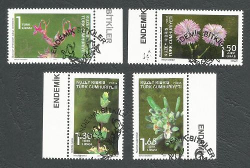North Cyprus Stamps SG 2017 (d) Endemic plants - CTO USED (k540)