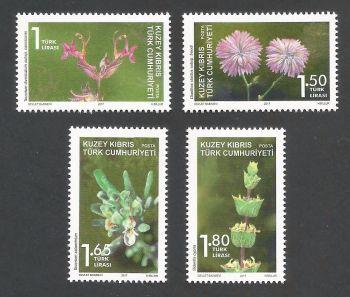 2017 (d) North Cyprus Stamps Plants MINT