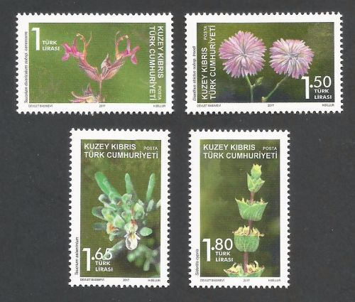 2017 (d) North Cyprus Stamps Plants MINT