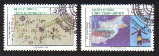 North Cyprus Stamps SG 0620-21 2006 50th Anniversary of the first Europa st