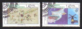 North Cyprus Stamps SG 0620-21 2006 50th Anniversary of the first Europa stamp - CTO USED (b161)