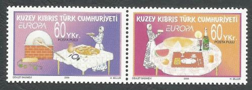North Cyprus Stamps SG 0607-08 2005 Europa Gastronomy - MINT