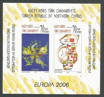 North Cyprus Stamps SG 0633a MS 2006 Europa Intergration - Imperforate MINT