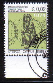 Cyprus Stamps 2011 Refugee Fund Tax SG 1245 - CTO USED (e172)