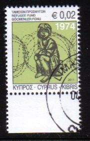 Cyprus Stamps 2011 Refugee Fund Tax SG 1245 - USED (e173)