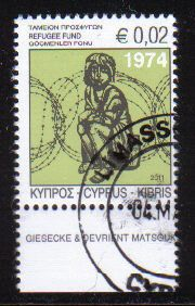 Cyprus Stamps 2011 Refugee Fund Tax SG 1245 - CTO USED (e175)