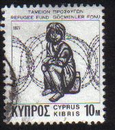 Cyprus Stamps 1977 Refugee Fund Tax SG 481a White Paper - USED (e069)
