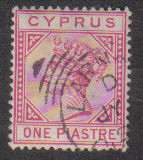 Cyprus Stamps SG 033 1892 One Piastre - USED (d223)