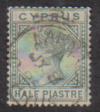 Cyprus Stamps SG 031 1892 Half Piastre - USED (d224)