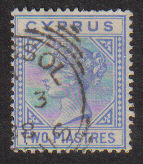 Cyprus Stamps SG 019 1883 Two Piastres - USED (d228)