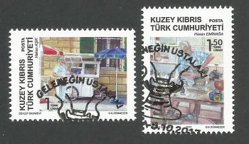North Cyprus Stamps SG 2017 (e) The Masters of Tradition - CTO USED (k542)