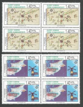 North Cyprus Stamps SG 0620-21 2006 50th Anniversary of the Europa stamps - Blocks of 4 MINT