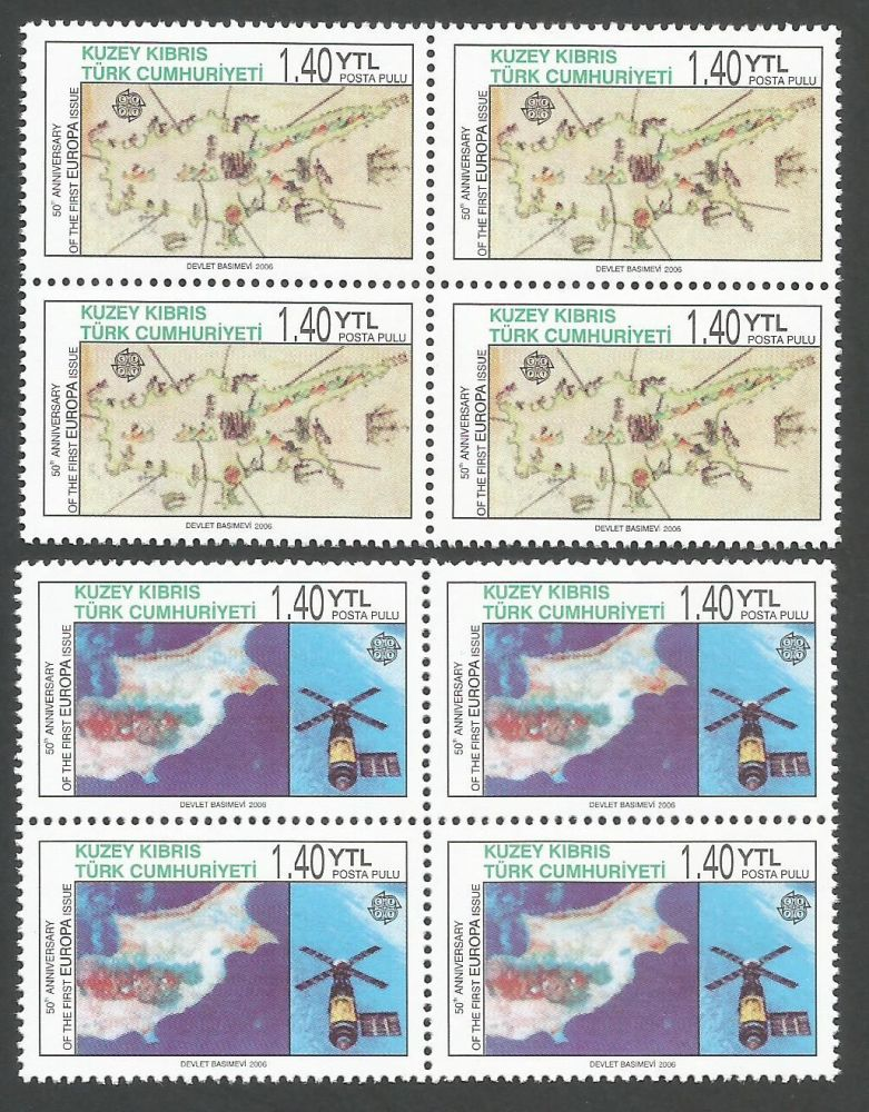 North Cyprus Stamps SG 0620-21 2006 50th Anniversary of the Europa stamps -