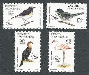 North Cyprus Stamps SG 0578-81 2003 Birds - MINT