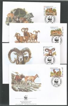Cyprus Stamps SG 941-44 1998 WWF Mouflon - Unofficial FDC (k593)