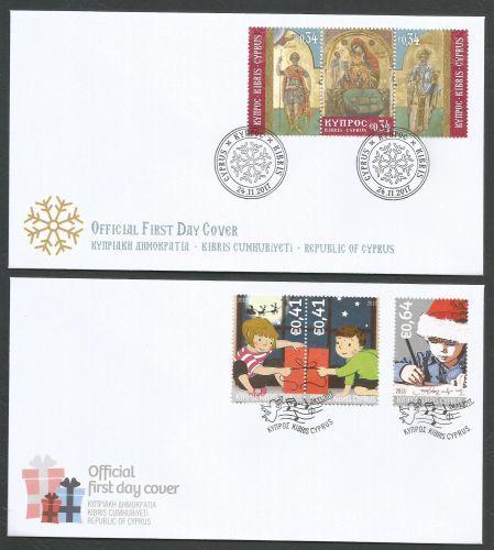 Cyprus Stamps Christmas 2017 FDC