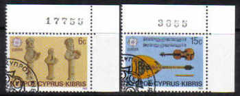 Cyprus Stamps SG 663-64 1985 Europa Music year - USED (d284)