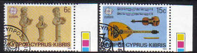 Cyprus Stamps SG 663-64 1985 Europa Music year - CTO USED (d282)