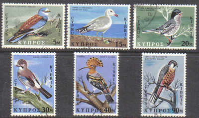 Cyprus Stamps SG 334-39 1969 Birds - USED (d262)