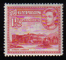 Cyprus Stamps SG 155 1938 1 1/2 Piastre KG VI - MLH