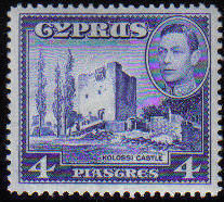 Cyprus Stamps SG 156b 1951 4 Piastres - MINT