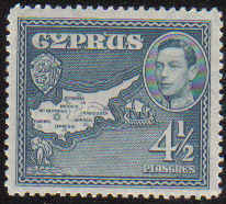 Cyprus Stamps SG 157 1938 4 1/2 Piastres - MINT