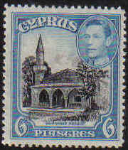 Cyprus Stamps SG 158 1938 6 Piastres - MINT