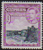 Cyprus Stamps SG 159 1938 9 Piastres - MINT