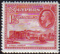 Cyprus Stamps SG 137 1934 KGV  1 1/2 Piastre - MLH
