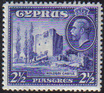 Cyprus Stamps SG 138 1934 KGV  2 1/2 Piastre - MINT