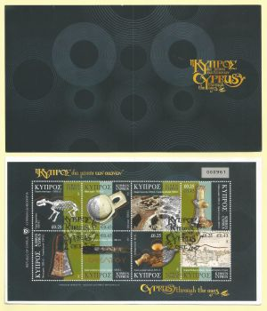 Cyprus Stamps SG 1137-44 2007 (SB10a) Cyprus Through the Ages Booklet - Part 1 CTO USED (k601)
