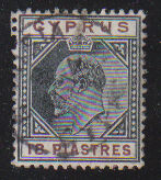 Cyprus Stamps SG 070 1904 18 Piastres - USED (d306)