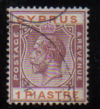 Cyprus Stamps SG 106 1924 One Piastre - USED (d313)