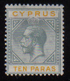 Cyprus Stamps SG 086 1923 10 Paras King George V - MLH (d388)