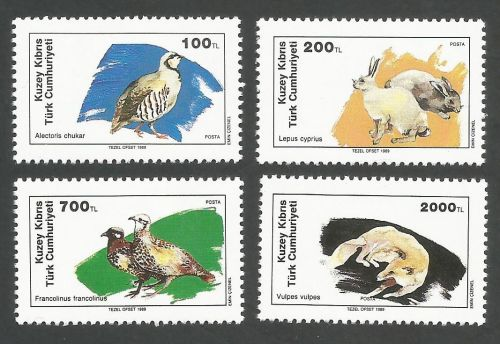 North Cyprus Stamps SG 254-57 1989 Wildlife - MINT