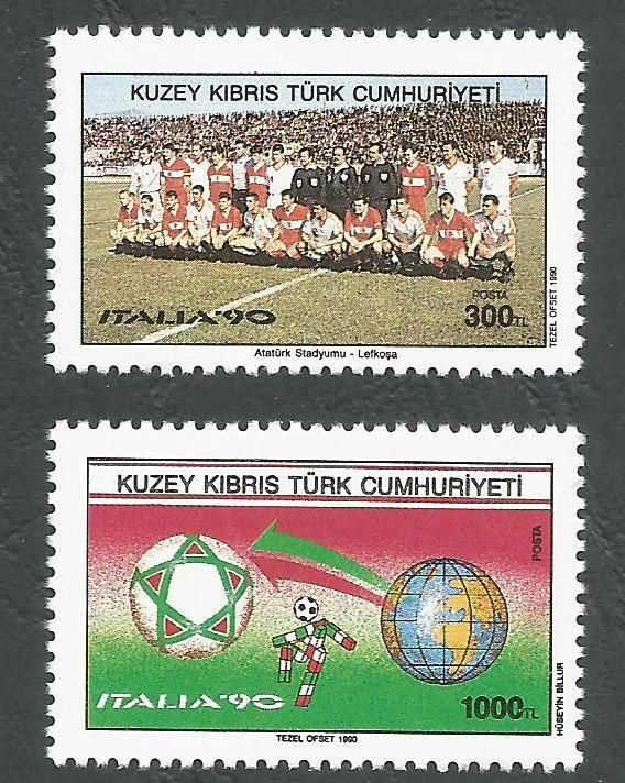North Cyprus Stamps SG 282-83 1990 World Cup football - MINT
